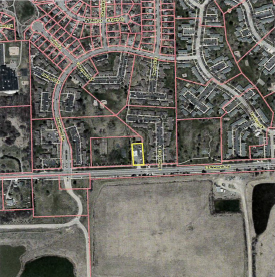 Aerial map of proposed dispensary location.